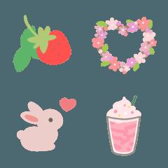 大人可愛い❤️春のお花絵文字