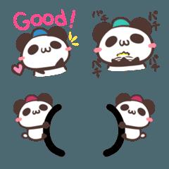 文字付きパンダの日常絵文字2