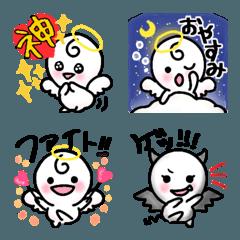 使いやすい言葉付き☆天使の絵文字