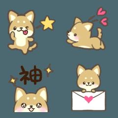 チビ可愛い♡柴犬絵文字