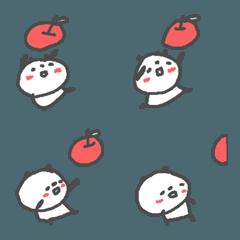 りんごとぱんだのぱらぱら絵文字