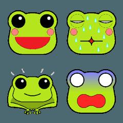 色々な表情のカエル絵文字