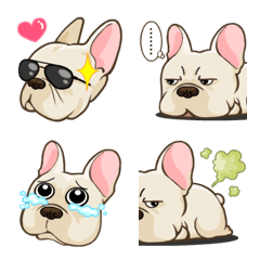 Frenchie Dog Emoji so cute