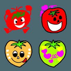 超カラフル、可愛いトマトの絵文字❤️