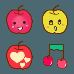 可愛い りんごちゃん絵文字