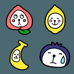 フルーツ犬の絵文字(第1弾)