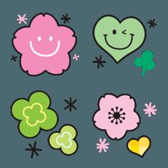 春爛漫♡桜とクローバー絵文字