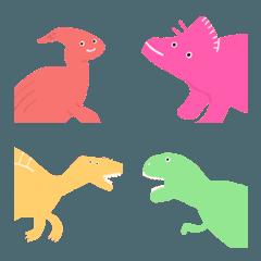 カラフルな恐竜たち