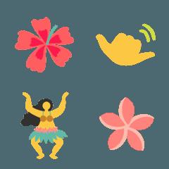 ハワイアンタヒチアンなシンプル絵文字