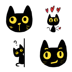 Black cat Mi Mi emoji