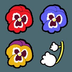 派手でカラフルな可愛いお花(パンジー)