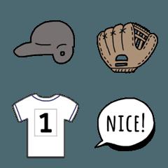 We love baseball ❤︎ 絵文字