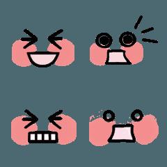 ゆる手描きシンプルな絵文字 顔 表情