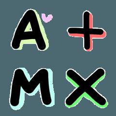アルファベットと記号の絵文字