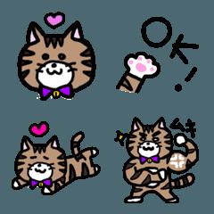 トラ柄 ゆる猫 日常 絵文字