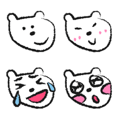 white bear emoji: good mood