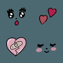 ❤︎きらきら瞳の絵文字❤︎
