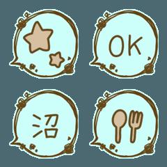 チョコミント◎絵文字5/吹き出し/基本
