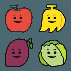 にこにこまゆげ 果物とお野菜