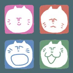 変な猫のスタンプ絵文字