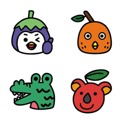 Eggplant penguin Emoji