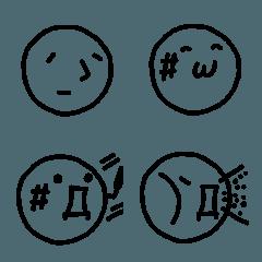 ネットっぽい顔絵文字♡pocaママ