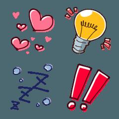 シンプル感情絵文字