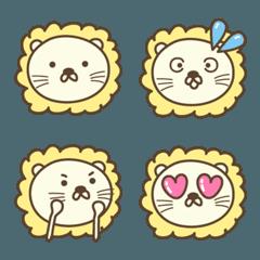 大人かわいいライオンの絵文字 Lion emoji
