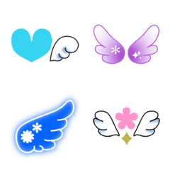 カラフル絵文字♪天使の羽