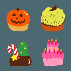 ♥かわいいケーキの絵文字♥