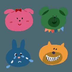ほのぼの動物たちの絵文字