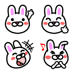 おもしろ可愛いウサギ絵文字