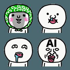 超使える☆変顔のスタンプ絵文字☆☆