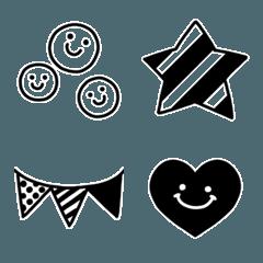 シンプル*モノクロ絵文字