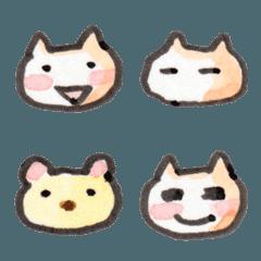 うさぼう絵文字 01 働く白ネコ