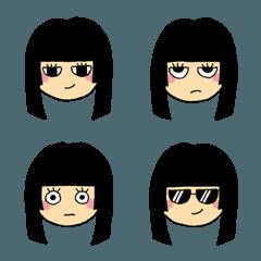 黒髪ぱっつん女子
