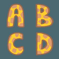 Giraffe Pattern Letters