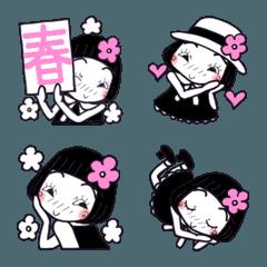 ひま子ちゃん8 春のモノトーン絵文字