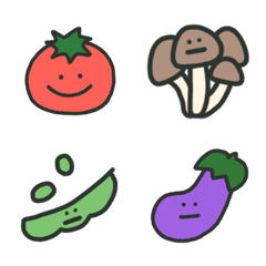 いろんな野菜ときのこ絵文字