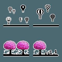 連結絵文字(飾り罫線3)