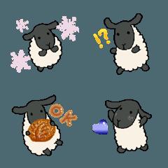 手描きの羊(サフォーク種)たまにパン