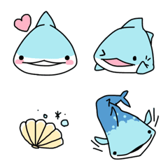 ジンベエザメと海の絵文字