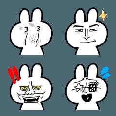 シュールでかわいい顔芸うさぎ(3)