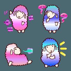 手描きの羊(グラデーション)【絵文字】