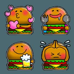 ゆるかわ♡ハンバーガー君の絵文字