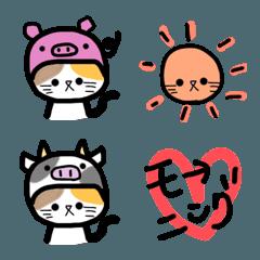 かぶり猫ちゃん絵文字