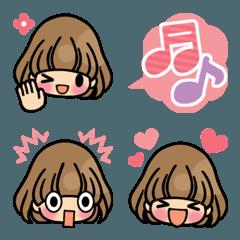 かわいい女の子の絵文字(基本編)