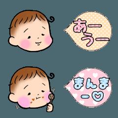 くせ毛が可愛い赤ちゃん絵文字