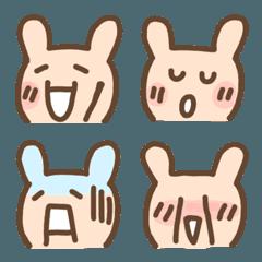 顔文字うさぎ☆40の表情