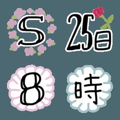 お花*デコ文字【かなカナ/英数字/記号】